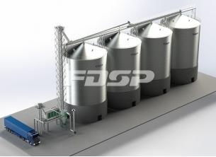 유지업 4-2000T 콩 사일로 공사